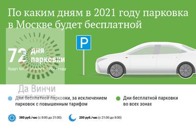 Дни бесплатной парковки в Москве