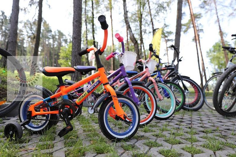 Прокат велосипедов в парке Виражи
