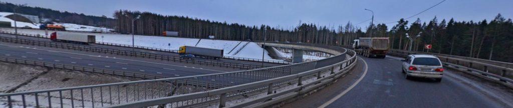 Разворотная эстакада М-1 Беларусь на 45 км. (Голицыно)